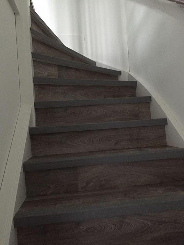 Bekend Trap bekleden met vinyl houtstructuur in Leidschendam @EY64